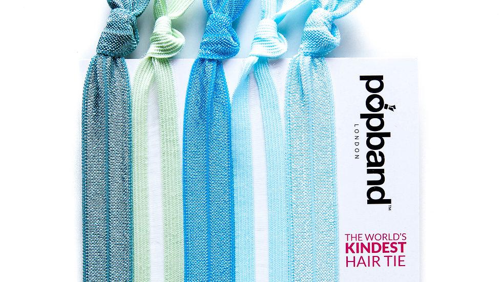 Popband Hair Ties 5 Pack - Mermaid
