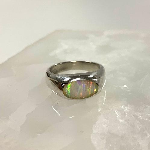 Mystic Opal Silver Ring