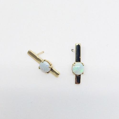Gold Opal Stick Earrings