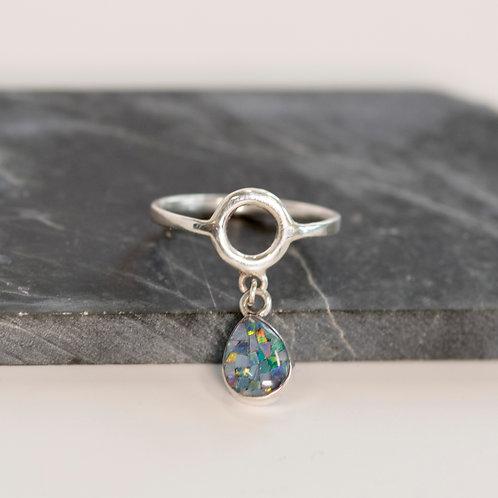 Opal Mosaic Charm Ring