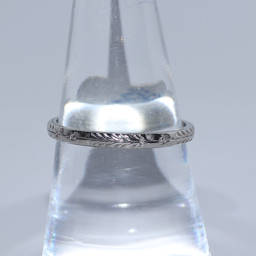 Vintage Etched Wheat wedding band