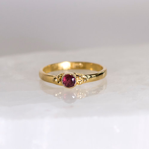 Garnet Goddess Ring