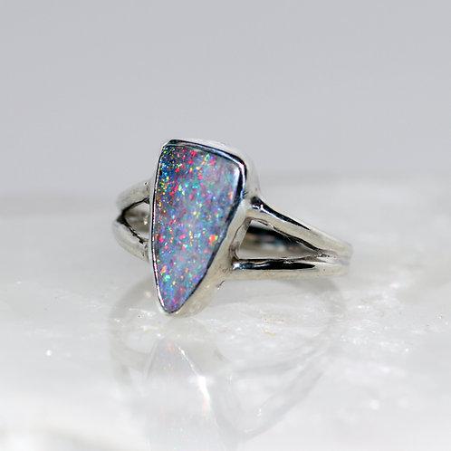 Confetti Boulder Opal Ring