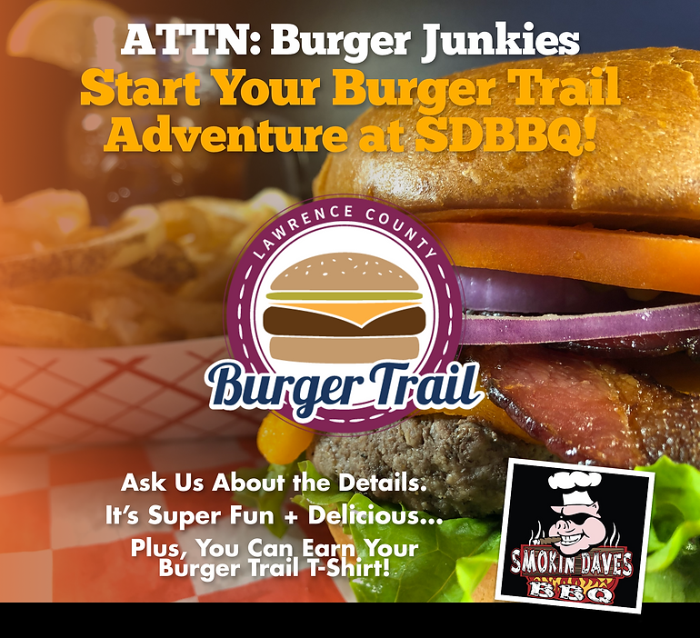 [CLICK HERE] Are You Ready for the Lawrence County Burger Trail?... Let's Do This!