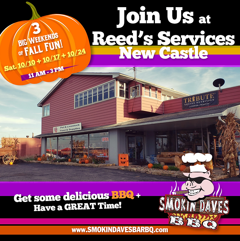 Join Us at Reed's Services the next 3 Weekends!
