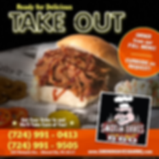 Smokin' Dave's BARBQ is rockin' with TAKE OUT Orders - we actually set up 2 numbers!