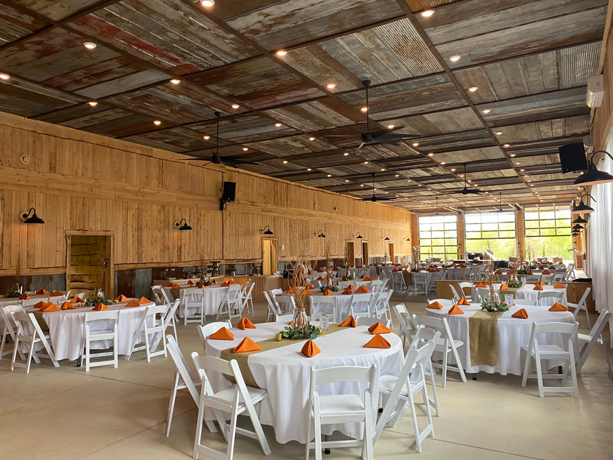 Large reception space to accomodate many guests.