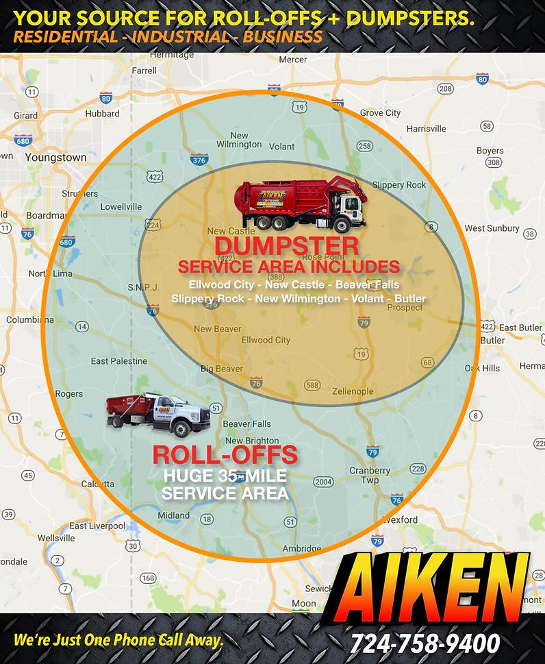 AIKEN Service Area Map