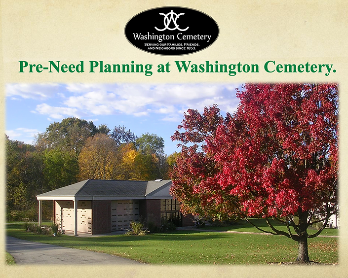 Washington Cemetery - Pre-Need Planning Information.