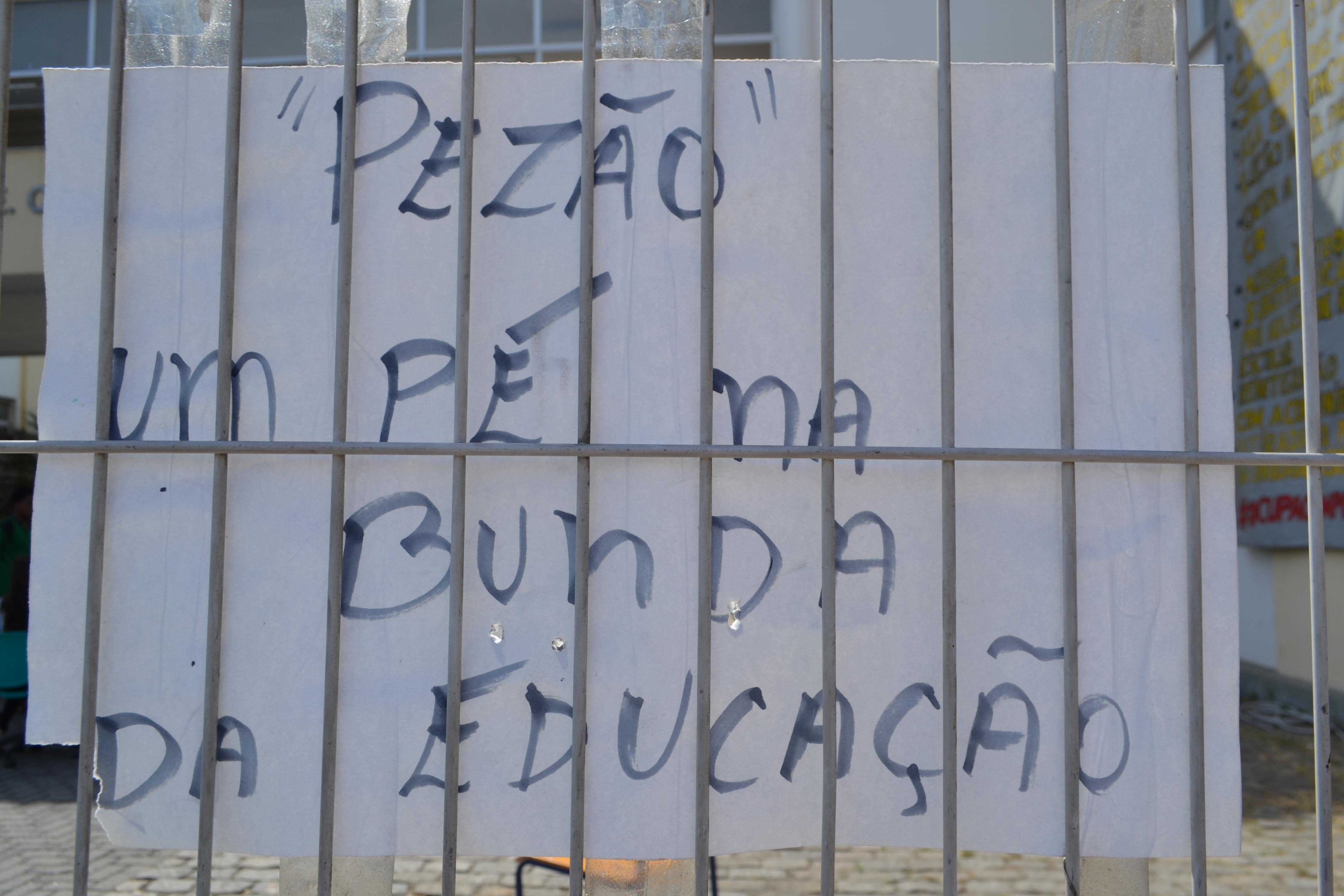 Cartaz de protesto
