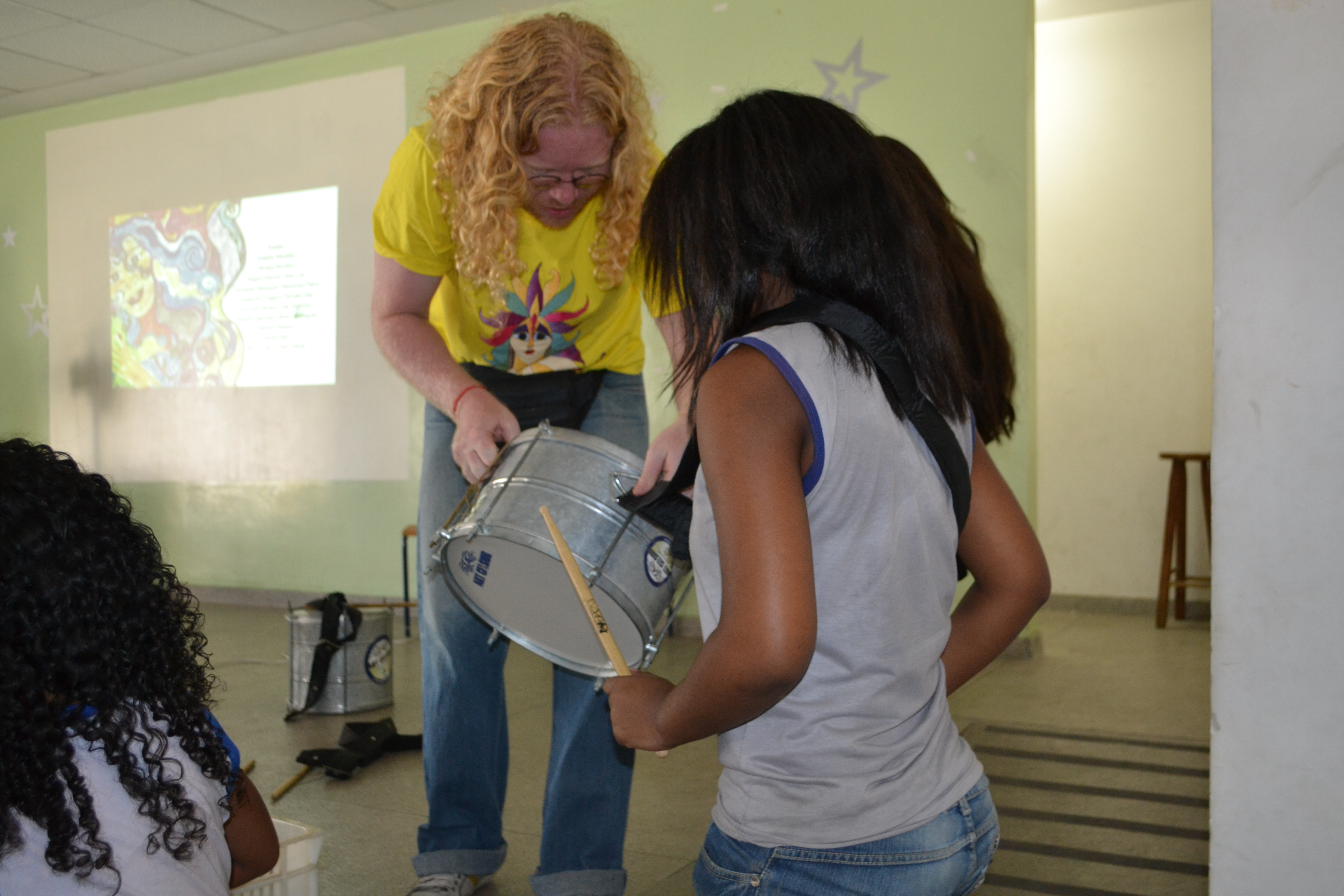 Alunas e alunos escolheram os instrumentos que queriam aprender a tocar
