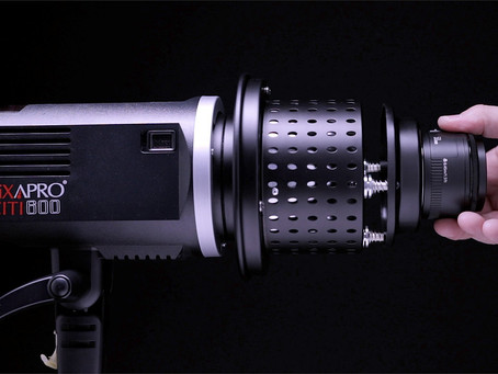 Creative Lighting Using An Optical Snoot.