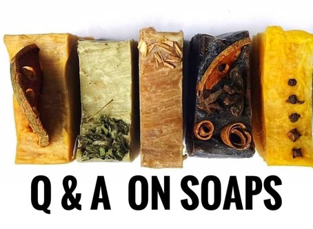 Q & A on Natural Soaps. Things you always wanted to know.