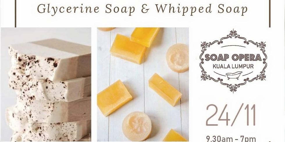 1 Day Soap Course - Glycerin Soap & Whipped Soap Making Workshop