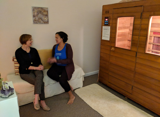 Free workshop on the healing benefits of the infrared sauna