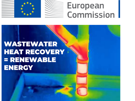 Wastewater heat recovery is now officially a renewable energy source