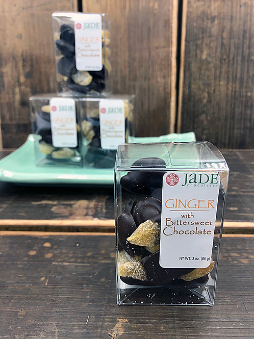 Crystallized Ginger Covered in Dark Chocolate