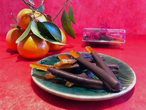 Chocolate Dipped Orange Peels