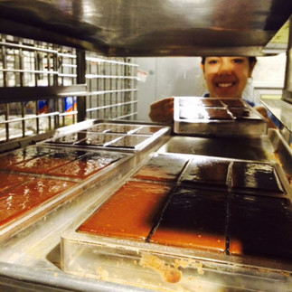 Cooling the chocolate bars