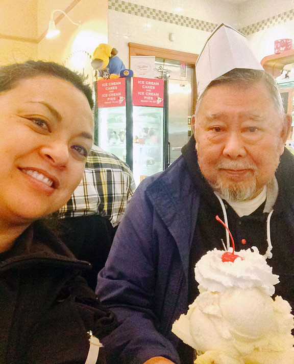 My dad and I and our favorite dessert