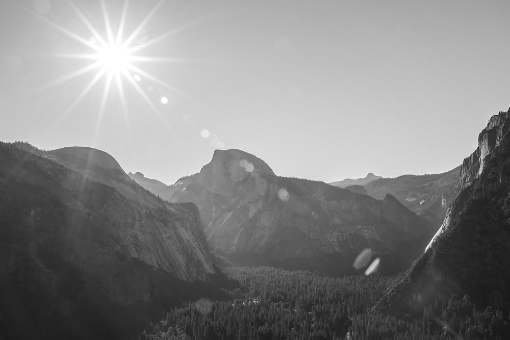 Colombia Rock views on Upper Yosemite Falls Trail