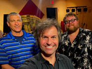 Studio shot with harpist Dickie Fleisher and producer Julian Sundby!
