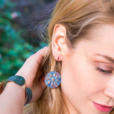 Copper Patina Earrings