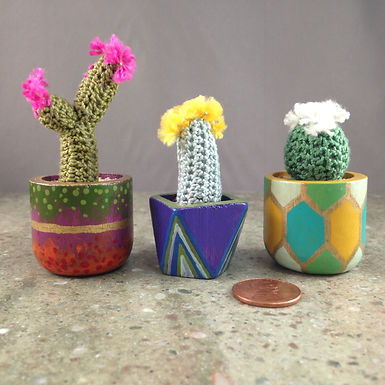 Tiny Crocheted Cactus