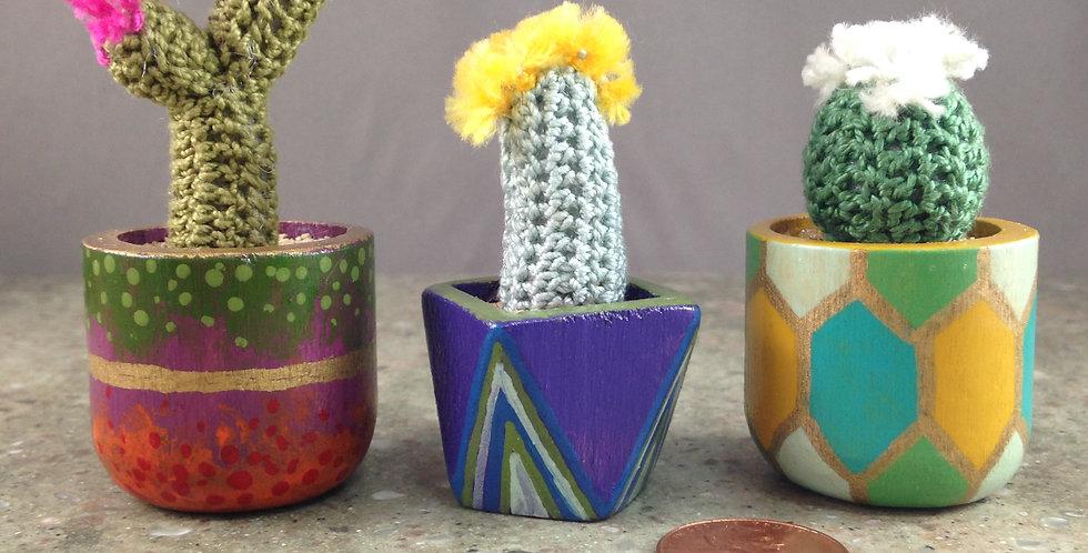 Tiny Crocheted Cactus
