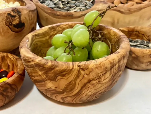 Small Olive Wood Snack Bowl