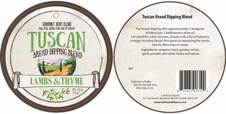 Tuscan Bread Dipping Herb Blend