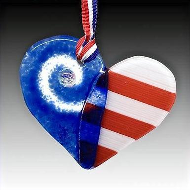 Liberty Heart Sun Catcher