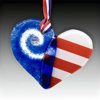 Liberty Heart Sun Catcher
