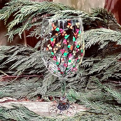 Seasonal Painted Wine Glasses