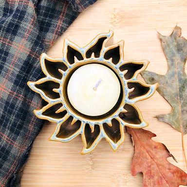 Sunflower Candle Pot