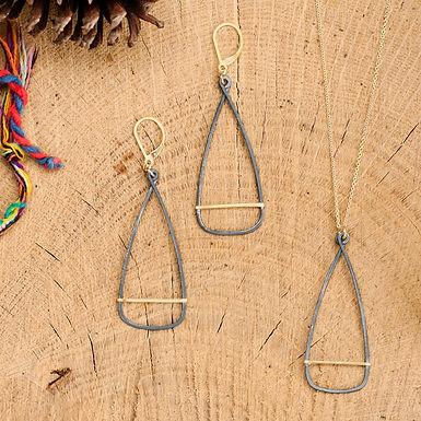 Oar Pendant or Earrings