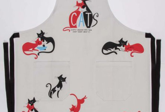 CATS. Slightly Obsessed With Them. (Don't Worry About It) Apron