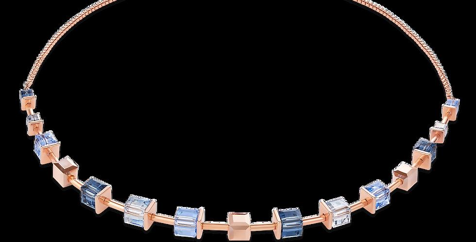 Coeur de Lion Swarovski® Crystals Necklace in Monochrome Blue