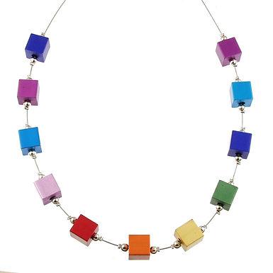 Rainbow Cube Necklace