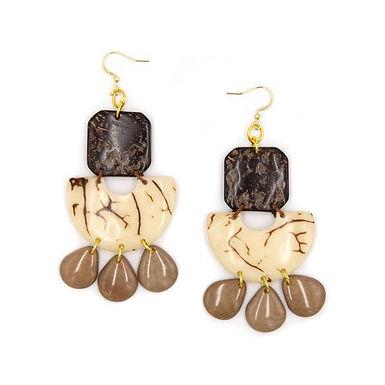 Lila Tagua Earrings