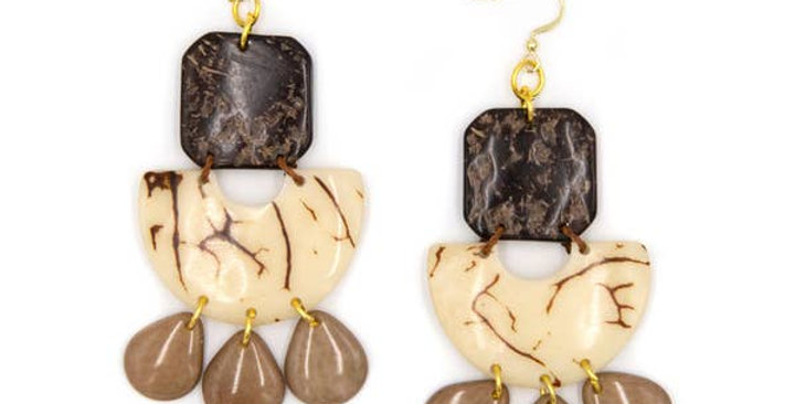 Lila Tagua Earrings