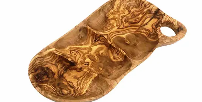 """Olive wood Appetizer Tray 12-14"""""""