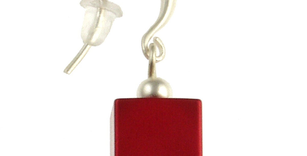 Matte Cube Earring