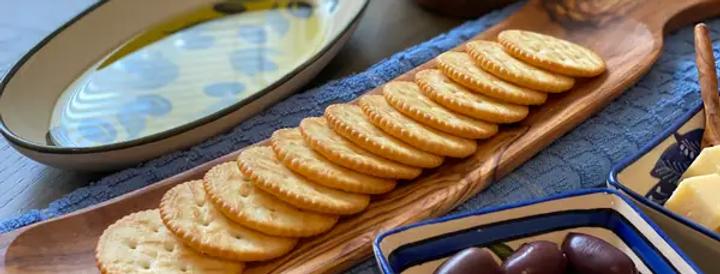 Olive Wood Cracker Tray