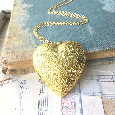 Golden Scroll Locket