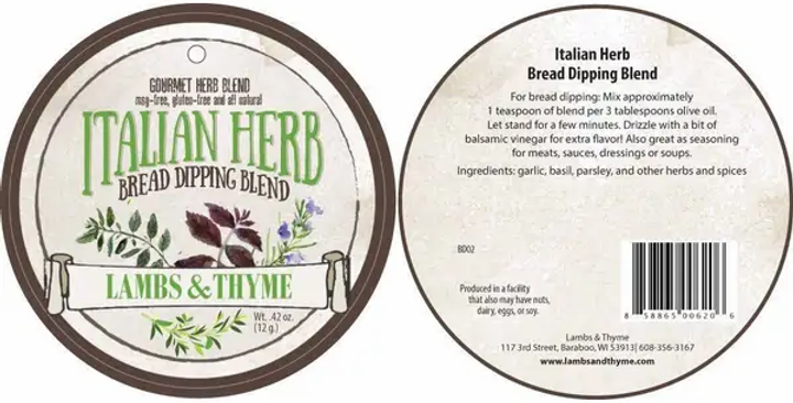 Italian Herb Bread Dipping Herb Blend