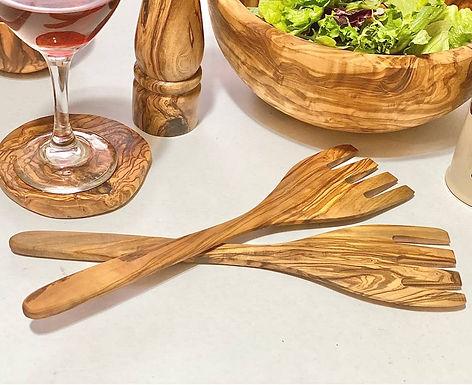 Olive Wood Salad Forks