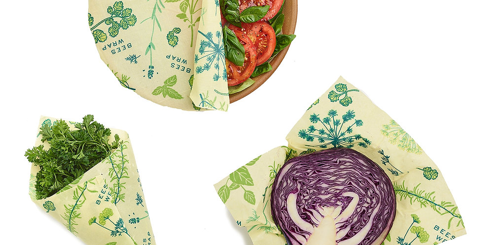 Plant Based Food Wrap 3-pack
