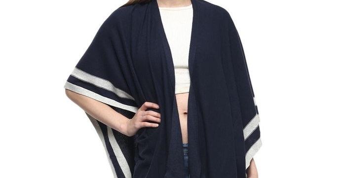Cotton Knit Cape