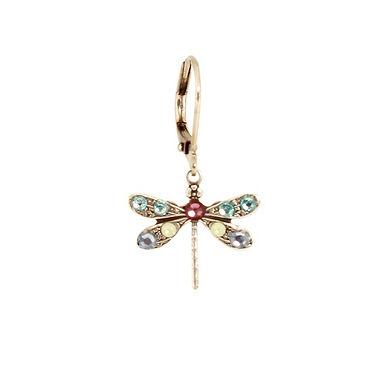 Crystal Dragonfly Earrings